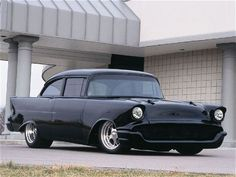 1957 Chevy Black Widow - Custom Tri-Five Restomod - Super Chevy Magazine