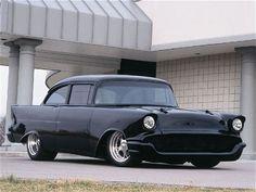 1957 Chevy ....Matte Black