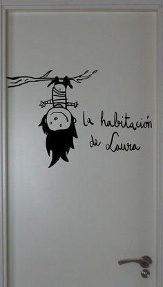Vinilo de corte personalizable. Habitación infantil. 19€ laraposa@laraposa.net www.laraposa.net: