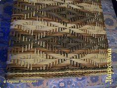 Поделка изделие Декупаж Плетение Схемы для ситца -5 Бумага Бумага газетная Трубочки бумажные фото 4