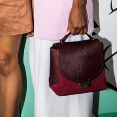 "Kate Spade Keran Mini Bag NWT. GORGEOUS mini big. Includes shoulder strap. Suede. Real calf hair. BURGUNDY. Width: 9"". Height: 8"". NO TRADES/PAYPAL. kate spade Bags Mini Bags"