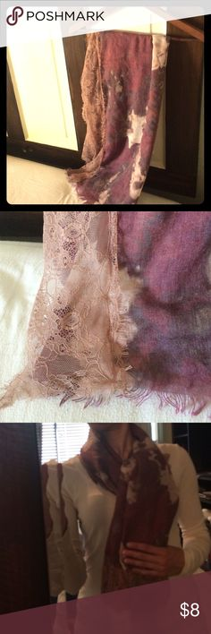 Simply Vera scarf Purple Simply Vera scarf with lace detail Vera Wang Accessories Scarves & Wraps