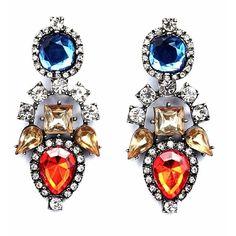 Cobalt Aztec Drop Earrings