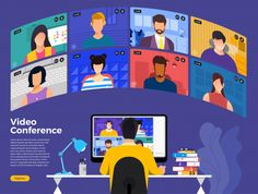 Find Illustrations Flat Design Concept Video Conference stock images in HD and millions of other royalty-free stock photos, illustrations and vectors in the Shutterstock collection. Workshop Icon, Free Vector Illustration, Vector Art, Education Banner, Online Presentation, Social Media Design, Videos, Illustrations Posters, Concept