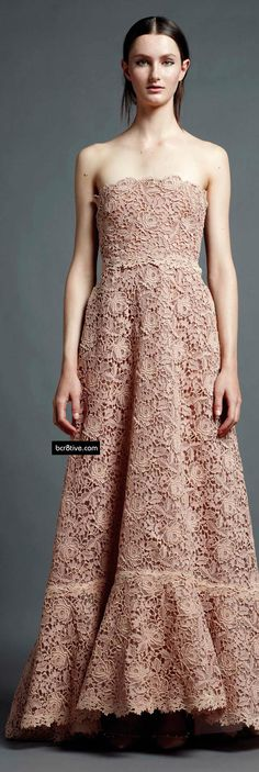 Valentino Pre Spring 2013, floral lace...lovely!