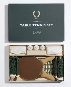 We appreciate a pop-up game of table tennis AND good packaging design.