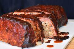 Smokey Glazed, Bacon Wrapped Meatloaf