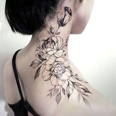A cool black-and-white rose tattoo idea. Roses are symbols of innocence, purity and chastity. Fits romantic and sensible women. Trendy Tattoos, Sexy Tattoos, Girl Tattoos, Tattoos For Guys, Sleeve Tattoos, Music Tattoos, Small Tattoos, Tatoos, Biker Tattoos