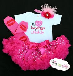 Valentine Onesie or Shirt My Heart Belongs To Daddy by KissMeCutie, $18.00