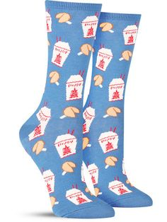 chinese takeout cool food socks by socksmith Silly Socks, Funky Socks, Crazy Socks, Cute Socks, Happy Socks, Food Socks, Novelty Socks, Colourful Outfits, Sock Shoes