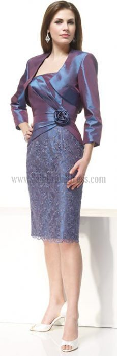 Buy Your Own Mother Of The Groom Dresses Column Sheath Burgundy Dark Navy 34 Length Sleeves For Sale Wedding Party Dresses