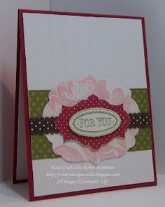 Sweet Floral combined with Layered Labels and 2 sets of Framelits