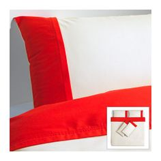 FÄRGLAV Quilt cover and 4 pillowcases IKEA The lyocell/cotton blend absorbs and draws moisture away from your body and keeps you dry all night long.