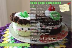 Amigurumi Food: Mint cake Amigurumi {Free Pattern}