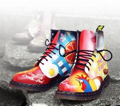 Martens - The Big Breakfast 01 Dr. Martens, Doc Martens Stiefel, Botas Dr Martens, Doc Martens Boots, Dr Martin Boots, Walk This Way, Custom Shoes, My Outfit, Combat Boots