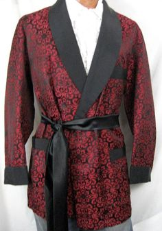 Paisley Babylon Vintage Clothing -1950s Vintage Brocade Smoking Jacket