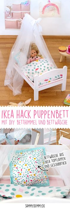 Living happiness in Swabian: the new IKEA Ludwigsburg Children& room // children& room ideas // children& room girl // building a doll bed // doll bed diy // s. Ikea Kids, Diy Gifts For Kids, Christmas Gifts For Girls, New Swedish Design, Doll Beds, Kura Bed, Childrens Gifts, Diy Bed, Diy Doll