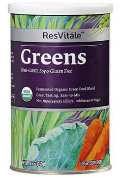Great tasting ResVitále™ Greens mixes easily without a grainy texture. Our easy-to-digest, fermented blend is a concentrated source of alkaline superfoods that helps increase energy, retain a healthy immune system and promote overall health and wellness.*     *These statements have not been evaluated by the Food and Drug Administration. This product is not intended to diagnose, treat, cure, or prevent any disease.