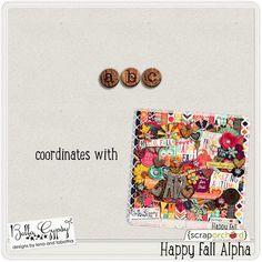 Quality DigiScrap Freebies: Happy Fall alpha freebie from Bella Gypsy Designs