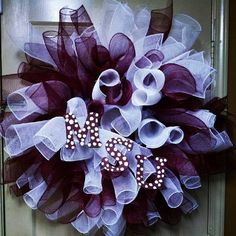 MSU Bulldogs - Mississippi State University Deco Mesh Wreath $55