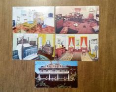 Vintage Postcards Set of 5 From the Carlyle House Alexandria Virginia 1972 Historic Mansion Gardens Georgian 70's Collectible Paper Ephemera by OffbeatAvenue on Etsy