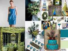 Peacock Passion : PANTONE WEDDING Styleboard : The Dessy Group