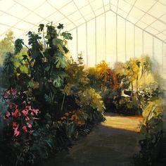 Greenhouse Interior Original Painting by Jeremy Miranda #Etsy #JonathanAdler #GetChicSweepstakes