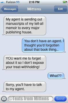 NEW #textsfrommittens : The Agent Edition textsfrommittens.com