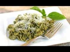 ▶ Homemade Pesto Sauce With Avocado - Fast And Easy Pesto Pasta Recipe by Rockin Robin - YouTube