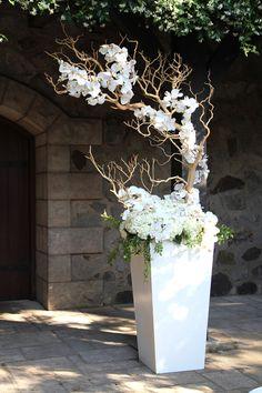 V.Sattui Winery White Wedding Flowers Ceremony