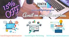 Avail flat off on our every package. Consult with Zenith Digital Agency to know more details about the offer. Hurry up to call us today. Make a call:- Digital Marketing Services, Social Media Marketing, Seo Sem, Search Engine Marketing, Web Development Company, Business Branding, Search Engine Optimization, Flat, Ballet Flats