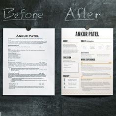 Great demonstration of how to pump life into your resume.