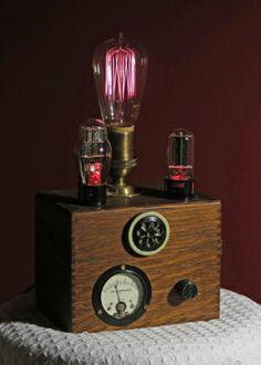 Steampunk lamp #steampunk, #vintage, #repurposed