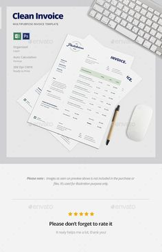 Invoice  Photoshop Psd A  Download  HttpsGraphicriverNet