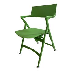 The Dolly Folding Chair is the creation of designer Antonio Citterio for Kartell. This pistachio toned Chair is made of polypropylene and in great condition. Folding Chair, Side Chairs, 1990s, Pistachio, Furniture, Vintage, Design, Home Decor, Products