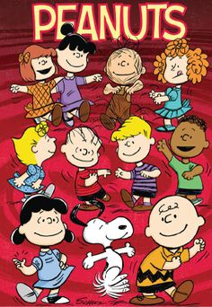 peppermint patty, violet, pigpin, frieda, sally, linus, schroder, franklin, lucy, snoopy and charlie. I live the way they dance!