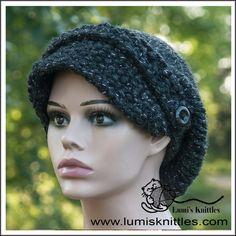 * popular design * one size fits all * warm and fashionable * wool - acrylic - metallic blend * Hand Knitted * Knitted Hats, Crochet Hats, One Size Fits All, Hand Knitting, Charcoal, Metallic, Warm, Popular, Scarfs