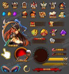 Game art game UI design interface material art hand travel ...