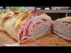 Como fazer rocambole com massa de pastel sabor pizza , MUITO SIMPLES ! - YouTube