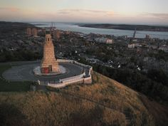 Law Hill in Dundee Scotland. I can see my grandmothers house from this view.