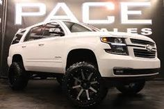 Image result for white 2015 chevy tahoe lifted