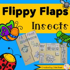 Insects Flippy Flaps!  This is a great way to get your students learning about Insects in a fun hands-on interactive way! Your students will be engaged and learn about Insects in many different ways!