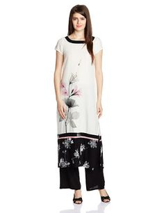Ladies, Mens and Kids Fashion at Best Price: Rs. 1189 W for Woman White Floral Print Straight R...
