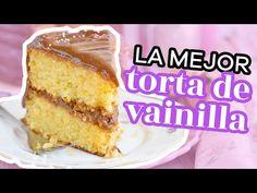 LA MEJOR RECETA DE TORTA DE VAINILLA, ESPONJOSA Y DELICIOSA - AnnasPasteleria - YouTube Loaf Cake, Pound Cake, Deli, Vanilla Cake, French Toast, Pudding, Pizza, Breakfast, Desserts