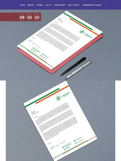 Letterhead 9. Stationery Templates. $5.00