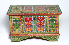 This is an authentic Chest from Poland that was traditionally given to married couples as a gift to place the dowry in.
