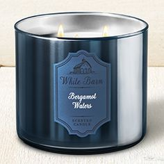 Bergamot Waters - Chrome Core Collection || Bath & Body Works Candle #BathAndBodyWorks #Candle