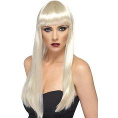 Barbie dames pruiken blond  Blonde damespruik met lang stijl haar en pony. Verander van coupe met deze gave lange blonde pruik.  EUR 24.95  Meer informatie