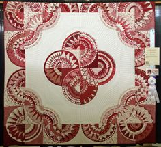 Red and white fancy New York Beauty - waaay waaaay cool! could just use drunkard's way or dresden blocks