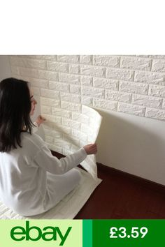 PE Foam Wall Sticker Home Room Wall Decor Embossed Brick Stone Wallpaper New Wall Decals For Bedroom, Bedroom Murals, Room Wall Decor, Rooms Home Decor, Diy Bedroom Decor, Bedroom Ideas, Thick Wallpaper, Diy Wallpaper, Wallpaper Murals